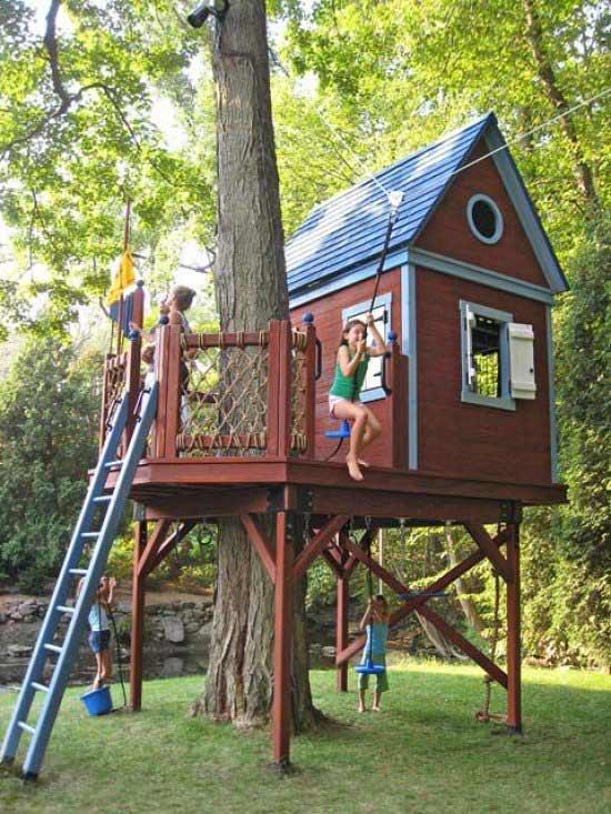 Как построить дом на дереве самому