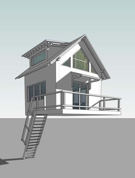 Заказать 3d модель Дом на дереве