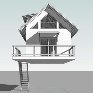 Упрощённая 3D модель Дома на Дереве