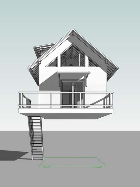 3d модель Дома на деревьях