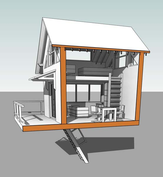 3d модель Дом на дереве