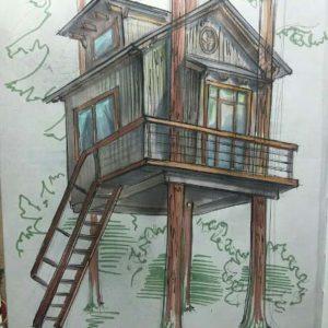 Эскизы Домов на Деревьях