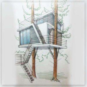 Проект эскиз дом на дереве