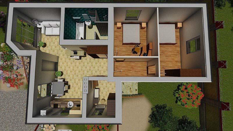 План проект мини дома