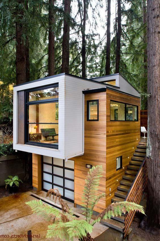 деревянный мини дом