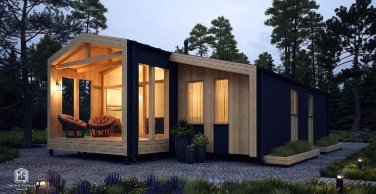 современный маленький мини дом