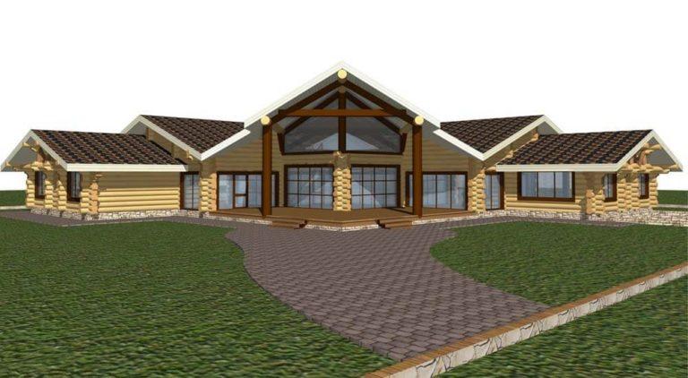 премиум деревянный дом