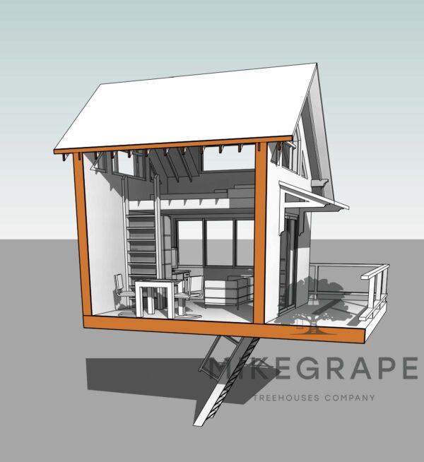 дома на деревьях проектирование