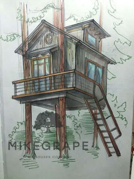 Рисунок Дом на дереве