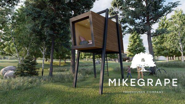 современный дом на дереве дом на опорах