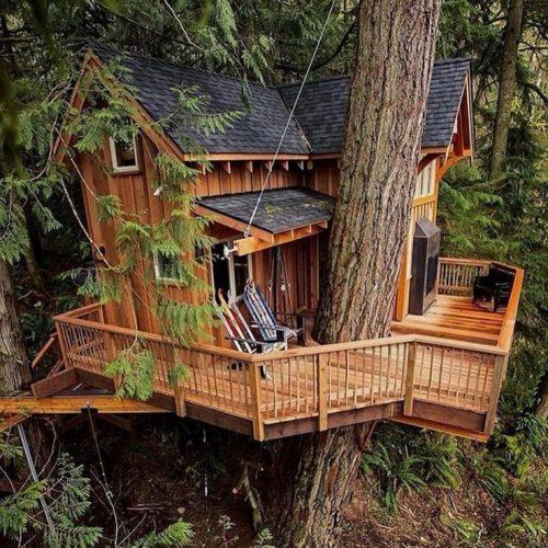 как построить домик на дереве своими руками